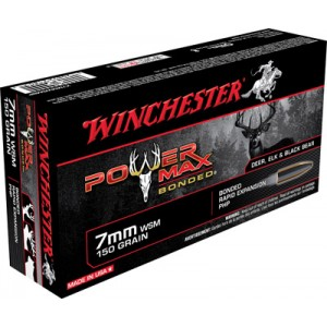 Winchester Super-X 7mm Winchester Short Magnum Power Max Bonded, 150 Grain (20 Rounds) - X7MMWSMBP