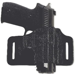 """Galco International TacSlide Right-Hand Belt Holster for Ruger P95 in Black (4.5"""") - TS484B"""