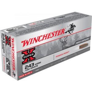 Winchester Super-X .243 Winchester Super Short Magnum Power-Point, 100 Grain (20 Rounds) - X243WSS