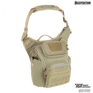 Maxpedition - WOLFSPUR™ Crossbody Shoulder Bag Color: Tan