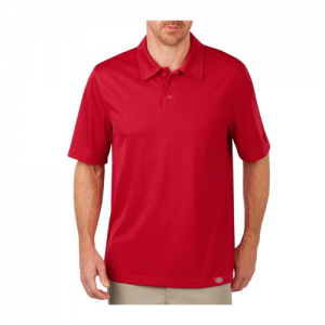 Dickies Industrial Men's Short Sleeve Polo in English Red - Large