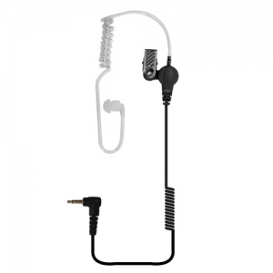 Tango Jr. 3.5 Earpiece Acoustic Clear Tube Earpiece with 14  coiled cord and 3.5 mm connector