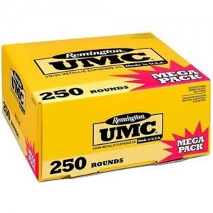 Remington UMC 9mm Metal Case, 115 Grain (250 Rounds) - L9MM3A
