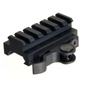 Aimshot MT61172 Quick Release Riser Base For AR AR-15 Style Black