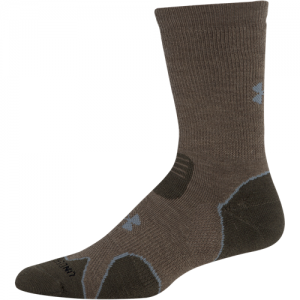 UA Hitch Heavy Cushion Boot Sock Color: Taupe Size: Medium