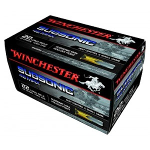 Winchester 42 Max .22 Long Rifle Subsonic Hollow Point, 42 Grain (50 Rounds) - W22SUB42U