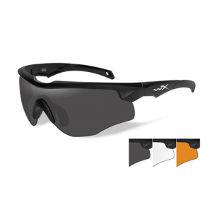 Wiley X - Rogue Lens Color / Frame Color: Smoke Grey & Clear & Light Rust / Matte Black