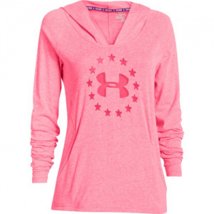 Under Armour Freedom Triblend Women's Pullover Hoodie in Pink Shock - X-Large