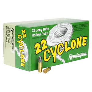 Remington Ammunition CY22HPB Cyclone 22 LR Hollow Point 36 GR 500Box/10Case