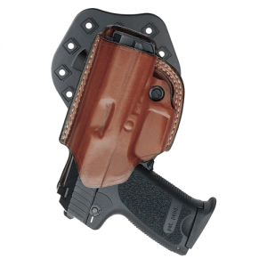 "Aker Leather 268 Flatside Paddle XR17 Right-Hand Paddle Holster for 1911 Officer's in Tan (3.5"") - H268TPRU-CO OFF"