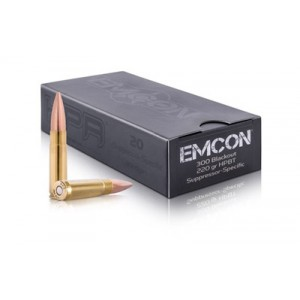 HPR Ammunition Emcon .300 AAC Blackout Boat tail Hollow Point, 220 Grain (20 Rounds) - 300B220HPBT-EMC