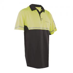 Tru Spec 24-7 Bike Performance Men's Short Sleeve Polo in Hi-Vis Yellow - Small