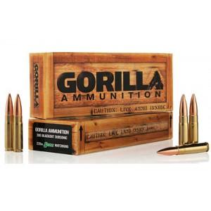 Gorilla Ammunition Company LLC Gorilla Ammunition .300 AAC Blackout Boat tail Hollow Point, 220 Grain (20 Rounds) - GA300220SMKSUB