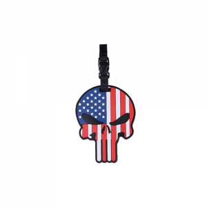 5ive Star Gear Patriotic Punisher Stainproof Flag/Skull Luggage Tag in Red, White, and Blue - 6674000