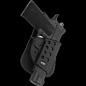 Fobus USA Evolution Right-Hand Belt Holster for Glock 17, 19, 22, 23, 26, 27, 33, 34, 35 in Black - GL2E2BH