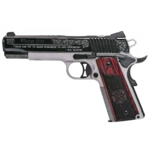 """Sig Sauer 1911 Full Size Texas .45 ACP 8+1 5"""" 1911 in Stainless Steel (Redwood Grip) - 191145TXS"""