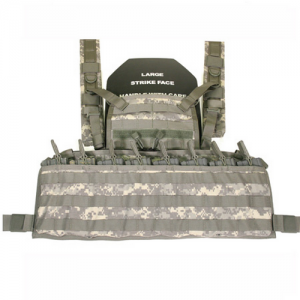 S.T.R.I.K.E. Enhanced Commando  Enhanced Commando Recon Chest Harness, Coyote Tan, Zipper along top edge of cummerbund allows for internal storage; STRIKE webbing allows mounting of pouches or holsters on inside, Magazine pockets along front with quick re