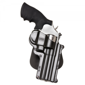"Fobus USA Belt Right-Hand Belt Holster for Smith & Wesson L-Frame, K-Frame in Black Smooth Plastic (4"") - SW4BH"