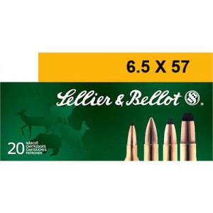 Sellier & Bellot 6.5X57mm Soft Point, 131 Grain (20 Rounds) - SB6557A