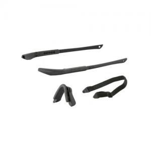ICE NARO Frame Kit Black - Includes two black temple pieces, black nosepiece, elastic retention strap, & no-fog cloth
