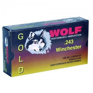 Wolf Performance Ammo Gold .300 Winchester Magnum Jacketed Soft Point, 165 Grain (20 Rounds) - G300WSP1