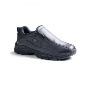 Dickies - Men's Slip Resisting Athletic Slip-On Work Shoes Color: Black Size: 10