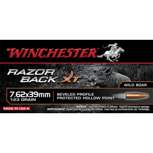 Winchester Razorback XT High Velocity 7.62X39 Hollow Point, 150 Grain (20 Rounds) - S76239WB