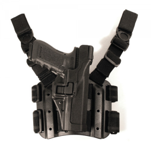 Blackhawk Level 3 Serpa Right-Hand Thigh Holster for Walther P99 in Black - 430624BK-R