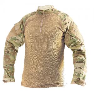 Tru Spec Combat Shirt Men's 1/4 Zip Long Sleeve in Multicam - X-Large