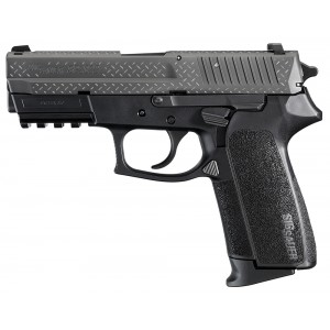 """Sig Sauer SP2022 Full Size Diamond Plate 9mm 15+1 3.9"""" Pistol in Black Nitron (4 Point Safety) - E20229BDP"""
