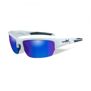 Wiley X - Saint Lens Color / Frame Color: Polarized Blue Mirror / Gloss White