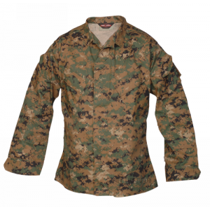 Tru Spec Battle Shirt Men's Long Sleeve Shirt in Digital Woodland - X-Large