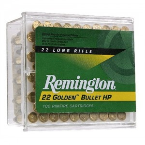 Remington Golden Bullet .22 Long Rifle Plated Hollow Point, 36 Grain (100 Rounds) - 1600