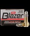 CCI 0021 Blazer 22LR Lead Round Nose 40GR 50 Per Box/100 Per Case