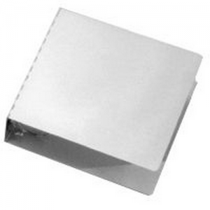 10 x11 3/4  Aluminum 3  3 Ring Binder Color: Silver