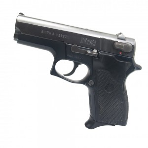 """Pre-Owned Smith & Wesson - Imported by LSY Defense 469 9mm 12+1 3.5"""" Pistol in Black - SW469-CB-PO"""