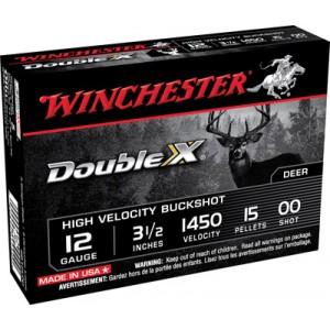 "Winchester Supreme Hi Velocity .12 Gauge (3.5"") 00 Buck Shot Lead (5-Rounds) - SB12L00"