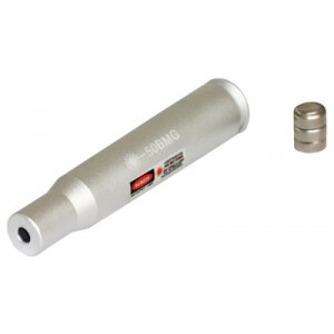 Aim Sports 50 Caliber Laser Bore Sighter 636nm Intensity CR2 3V Lithium Battery Aluminum PJBS50B