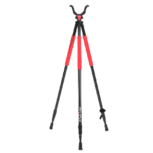 Bog-Pod RLD3 Red Legged Devil Tall Tripod Shooting Rest Red/Black