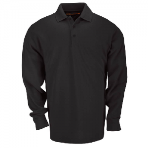 5.11 Tactical Tactical Men's Long Sleeve Polo in Black - Medium