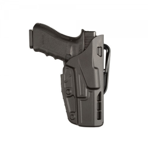 """Safariland 7377 7TS ALS Right-Hand Belt Holster for Smith & Wesson M&P in STX Plain Black (4.25"""") - 7377-219-411"""