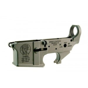 Spike's Tactical Stls011 Zombie, Stripped Lower, Semi-automatic, 223 Rem/556nato, Black Finish, Non-color Stls011