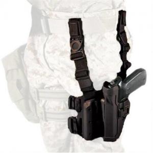 "Blackhawk Serpa Left-Hand Thigh Holster for Glock 17 in Matte Black (4"") - 430500BK-L"