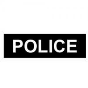 Body shield ID label - Police