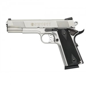 """Smith & Wesson 1911 .45 ACP 8+1 5"""" 1911 in Satin Stainless - 108282"""