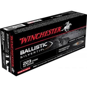 Winchester Supreme .223 Winchester Super Short Magnum Ballistic Silvertip, 55 Grain (20 Rounds) - SBST223SS