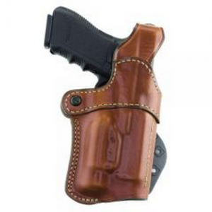 Aker Leather 267 Nightguard Left-Hand Paddle Holster for Smith & Wesson M&P .40 in Tan (W/ Streamlight M3) - H267TPLU-MP40M3