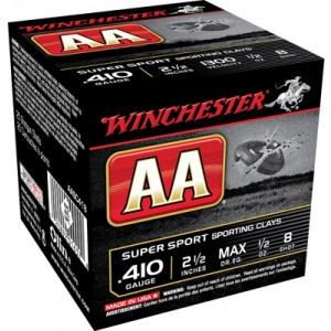 """Winchester AA .410 Gauge (2.5"""") 8 Shot Lead (250-Rounds) - AASC418"""