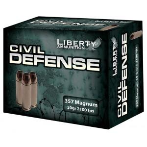 Liberty Ammunition Civil Defense .357 Remington Magnum Hollow Point, 50 Grain (20 Rounds) - LACD357030