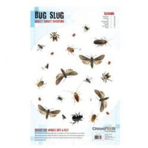 """Champion Targets BUG SLUG Insect Target Shooting - Shoot The Wings Off A Fly - 11"""" x 17"""" Full Color, 60lb paper 25 Target Pack 46022"""